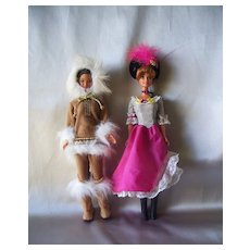 Two Barbie Dolls Of The World Collection French And Arctic