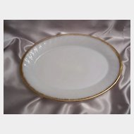 Fire King Golden Anniversary Swirl Platter