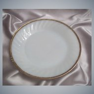 Fire King Golden Anniversary Swirl Dinner Plate