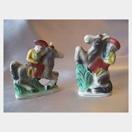 Two Cowboy Figurines Made in Japan