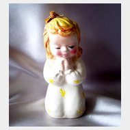 Ceramic Praying Little Girl  Bank
