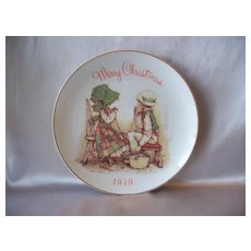 Merry Christmas 1979 Holly Hobbie Collector Plate