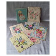 Seven Vintage Birthday Greeting Cards