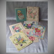 Seven Vintage Birthday Greeting Cards
