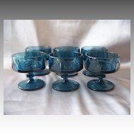 Indiana Glass BLue Nouveau Sherbets