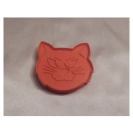 Hallmark Cards Halloween Cat Head Cookie Cutter 1973
