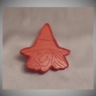 Hallmark Cards Halloween Witch Head Cookie Cutter 1973