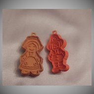 Hallmark Card Thanksgiving  Pilgrim Boy and Girl Cookie Cutter