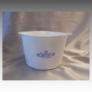 Blue Cornflower Corning Ware  Two Quart Sauce Maker