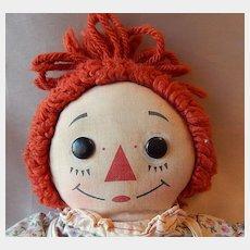 Knickerbocker  Raggedy Ann Cloth Doll
