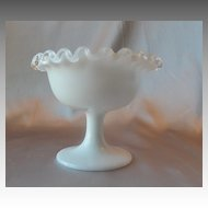 Fenton art Glass Silver Crest  Sherbet
