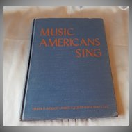 Music Americans Sings 1949 Texas School Music Book