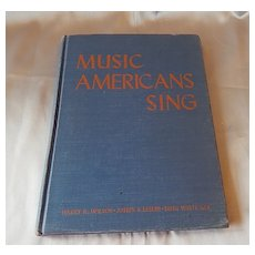 Music Americans Sings 1949 Texas School Music Book