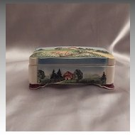 German Majolica Decorative Trinket Box