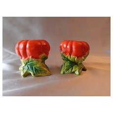 Tomato Salt and Pepper Shakers Made in Japan