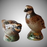 Rosemeade Pottery Quail Salt and Pepper Shakers