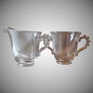 Candlewick Crystal Sugar and Creamer