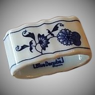 Blue Danube Porcelain Napkin Ring