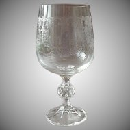 Bohemia Crystal Glass Water Goblet