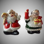 Santa Claus & Mrs. Claus  Salt & Pepper Shakers Japan