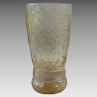 Federal Glass Amber Madrid Tumbler