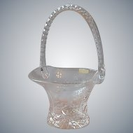 Crystal Hand Cut Basket by Violetta