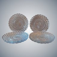 Eight Blue Bubble Anchor Hocking Plates