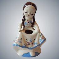 DeLee Art Pottery Nina Figurine Planter