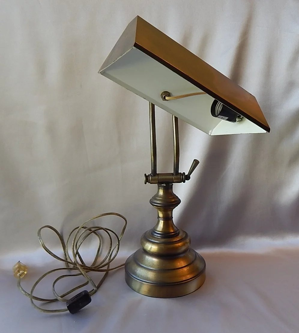 Piano Desk Lamp In Antique Brass Color : Colemans ...