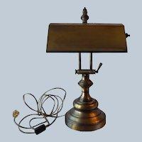 Piano Desk Lamp In Antique Brass Color