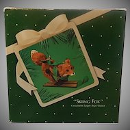 Hallmark Skiing Fox 1983 Christmas Keepsake Ornament