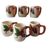 Six Franciscan Apple Grandmugs
