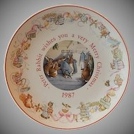 1987 Wedgwood Beatrix Potter Peter Rabbit Plate