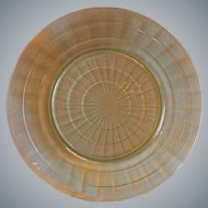 Hocking Glass Green Block Optic Dinner Plate