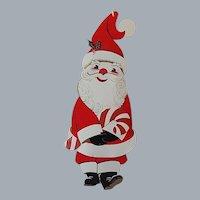 Henri Fayette Santa Claus Hanging Christmas Greeting Card