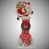 Henri Fayette Santa Swirl Hanging Christmas Card