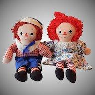 Knickerbocker Toy Raggedy Ann and Andy Dolls