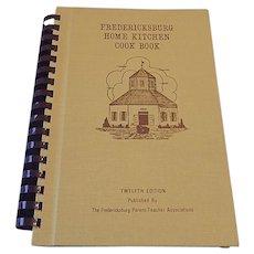 Fredericksburg Home Kitchen Cook Book 1982