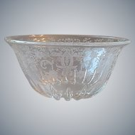 New Martinsville / Viking Glass Prelude Crystal Etched Bowl
