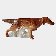 Porcelain  Irish Setter Dog Figurine