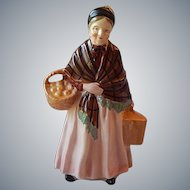 Older Lady Figurine Made in Japan