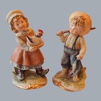 Lefton Children Figurines Boy and Girl