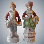 Made In Occupied Japan Colonial Man and Woman Figuirnes