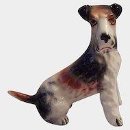 Ceramic Terrier Dog Figurine Japan