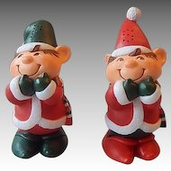 Hallmark Elves Salt and Pepper Shakers