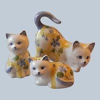 Andrea by Sadek Cat Salt Pepper Shakers and Bank