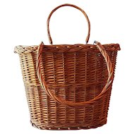 Two Handled Wicker Gathering  Basket