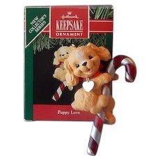 Hallmark Keepsake Puppy Love Ornament 1991