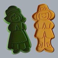 Two Pilgrim Hallmark Cookie Cutters