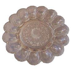 Brockway Glass American Concord Deviled Egg Plate